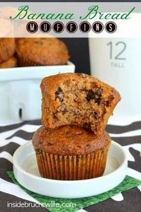 Banana Bread Muffins - these banan - 250 Yummy Banana Recipes - RecipePin.com