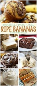 50 Different Ways to use up Ripe B - 250 Yummy Banana Recipes - RecipePin.com