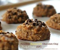 Flourless Banana Oat Chocolate Chi - 250 Yummy Banana Recipes - RecipePin.com