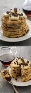 Banana Chocolate Chip Pancakes - t - 250 Yummy Banana Recipes - RecipePin.com