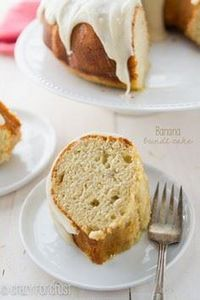Banana Bundt Cake with Cream Chees - 250 Yummy Banana Recipes - RecipePin.com