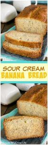 Sour Cream Banana Bread - this eas - 250 Yummy Banana Recipes - RecipePin.com