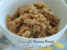 Overnight Banana Bread Baked Oatme - 250 Yummy Banana Recipes - RecipePin.com