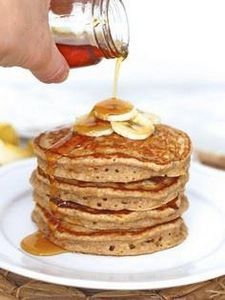 Whole Wheat Banana Pancakes - 250 Yummy Banana Recipes - RecipePin.com