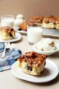Chunky Monkey Sticky Buns are the  - 250 Yummy Banana Recipes - RecipePin.com