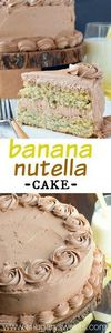 Sweet Banana Layer Cake with a cre - 250 Yummy Banana Recipes - RecipePin.com