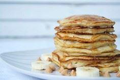 Pancakes with bananas and peanut b - 250 Yummy Banana Recipes - RecipePin.com