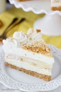 This No-Bake Banana Pudding Cheese - 250 Yummy Banana Recipes - RecipePin.com