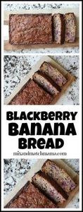 Blackberry Banana Bread - 250 Yummy Banana Recipes - RecipePin.com