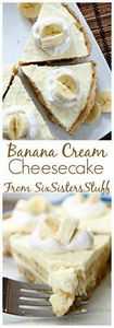 Banana Cream Cheesecake Recipe - 250 Yummy Banana Recipes - RecipePin.com