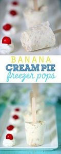 Simple Banana Cream Pie Freezer Po - 250 Yummy Banana Recipes - RecipePin.com