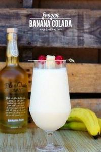 Frozen Banana Colada |anightowlblo - 250 Yummy Banana Recipes - RecipePin.com