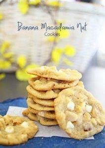 Banana Macadamia Nut Cookies - 250 Yummy Banana Recipes - RecipePin.com