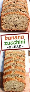 Sweet and nutty, this Banana Zucch - 250 Yummy Banana Recipes - RecipePin.com
