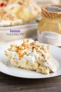 Best Ever Banana Pudding Pie on Th - 250 Yummy Banana Recipes - RecipePin.com
