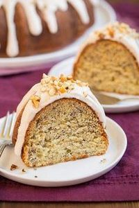 Banana Bundt Cake with Cinnamon Cr - 250 Yummy Banana Recipes - RecipePin.com