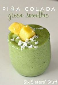 Piña Colada Green Smoothie on SixS - 250 Yummy Banana Recipes - RecipePin.com