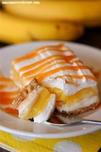 Banana Cream Pie Bars - 250 Yummy Banana Recipes - RecipePin.com