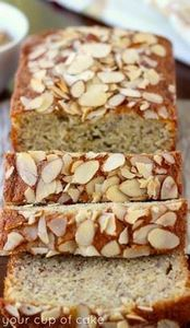 Amazing Almond Banana Bread - 250 Yummy Banana Recipes - RecipePin.com