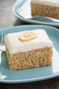 To+Die+For+Banana+Cake+with+Vanill - 250 Yummy Banana Recipes - RecipePin.com