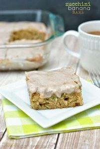 Zucchini Banana Cake Bars with a c - 250 Yummy Banana Recipes - RecipePin.com
