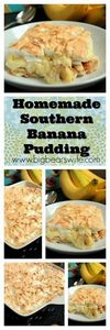 Homemade Southern Banana Pudding - 250 Yummy Banana Recipes - RecipePin.com