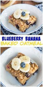 Fresh blueberries and bananas add  - 250 Yummy Banana Recipes - RecipePin.com