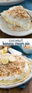Coconut Banana Cream Pie that is c - 250 Yummy Banana Recipes - RecipePin.com