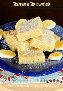 Banana Brownies - 250 Yummy Banana Recipes - RecipePin.com