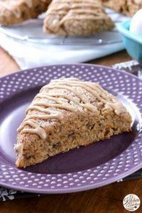 Honey Cinnamon Banana Bread Scones - 250 Yummy Banana Recipes - RecipePin.com