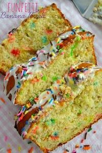 Funfetti Banana Bread {Funfetti We - 250 Yummy Banana Recipes - RecipePin.com