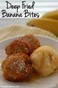 Deep Fried Banana Bites- Super tas - 250 Yummy Banana Recipes - RecipePin.com