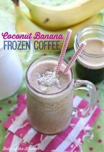 Coconut Banana Frozen Coffee - Bel - 250 Yummy Banana Recipes - RecipePin.com
