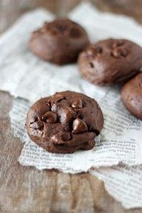 Chocolate Banana Cookies - so mois - 250 Yummy Banana Recipes - RecipePin.com