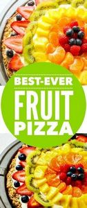 Fruit Pizza - 250 Yummy Banana Recipes - RecipePin.com