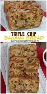 Three times the chocolate chips wi - 250 Yummy Banana Recipes - RecipePin.com