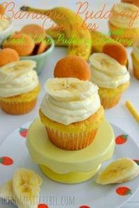 Banana Pudding Cupcakes with Cool  - 250 Yummy Banana Recipes - RecipePin.com