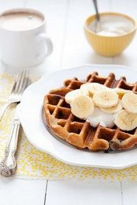Peanut Butter Chocolate Waffles wi - 250 Yummy Banana Recipes - RecipePin.com