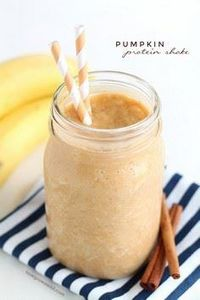 Pumpkin Protein Shake - 250 Yummy Banana Recipes - RecipePin.com