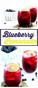 Blueberry Lemonade - Refreshing bl - 200 Delicious Blueberry Recipes - RecipePin.com