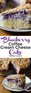 Blueberry Coffee Cream Cheese Cake - 200 Delicious Blueberry Recipes - RecipePin.com