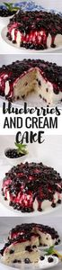 This delicious cake is perfect! It - 200 Delicious Blueberry Recipes - RecipePin.com