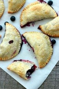 Easy Blueberry Hand Pies - 200 Delicious Blueberry Recipes - RecipePin.com