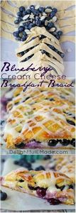 Blueberry Cream Cheese Breakfast B - 200 Delicious Blueberry Recipes - RecipePin.com