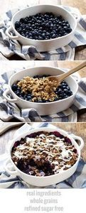 Simple Oat and Blueberry Crisp - w - 200 Delicious Blueberry Recipes - RecipePin.com