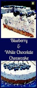 Blueberry and White Chocolate Chee - 200 Delicious Blueberry Recipes - RecipePin.com