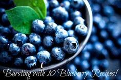 Bursting with 10 Blueberry Recipes - 200 Delicious Blueberry Recipes - RecipePin.com