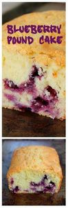 Blueberry Sour Cream Pound Cake -  - 200 Delicious Blueberry Recipes - RecipePin.com