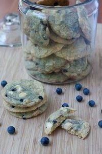 blueberry white chocolate cookies - 200 Delicious Blueberry Recipes - RecipePin.com