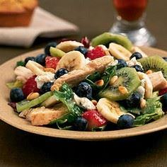 Chicken-Fruit Salad | CookingLight - 200 Delicious Blueberry Recipes - RecipePin.com